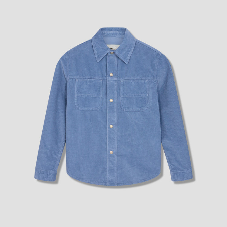 AMI CORDUROY OVERSHIRT E21HD429.449 Light blue
