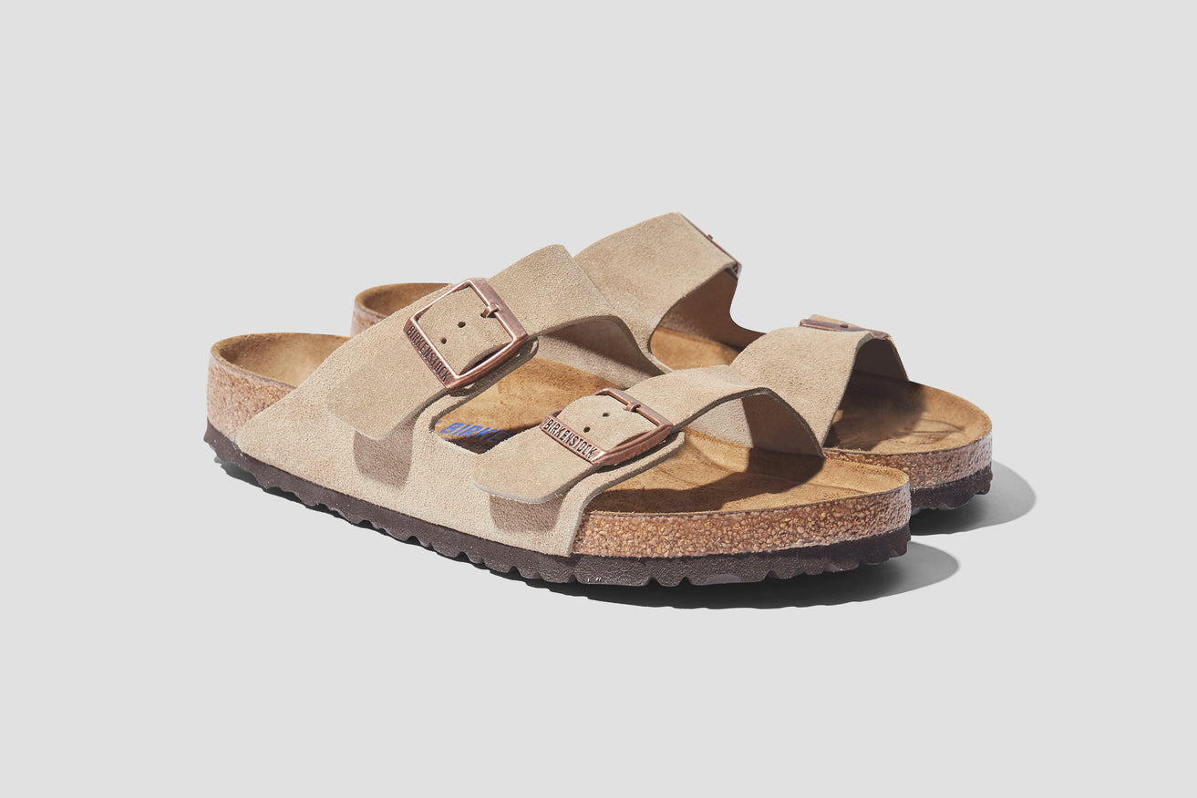 ARIZONA SOFT FOOTBED - SUEDE LEATHER / TAUPE 951301 Grey