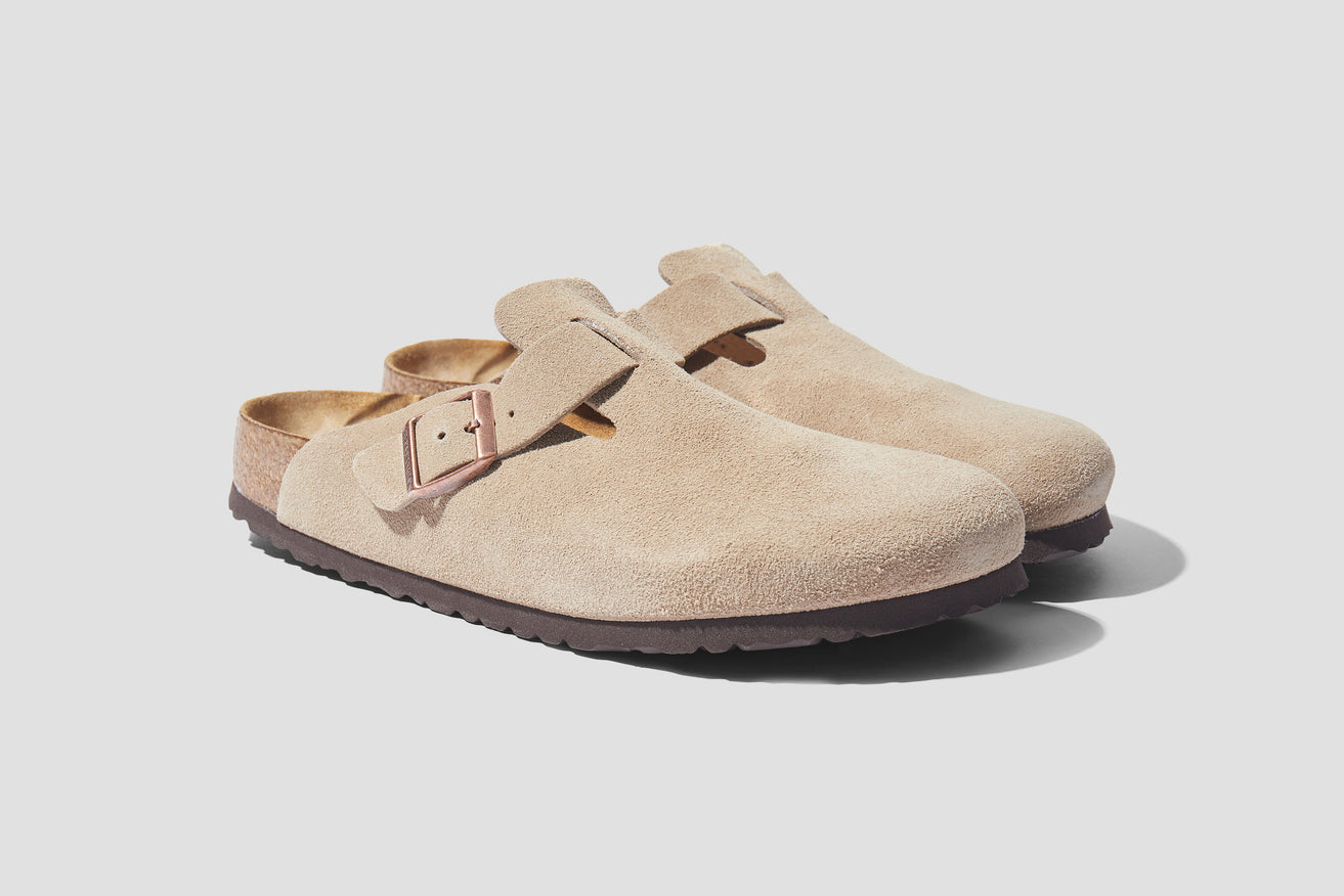 BOSTON SOFT FOOTBED - SUEDE LEATHER / TAUPE 560773 Grey