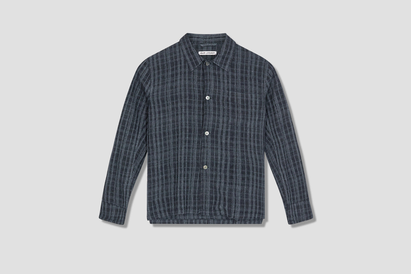 BOX SHIRT - ASPHALT GREY CHECK M2212BAGC Dark grey