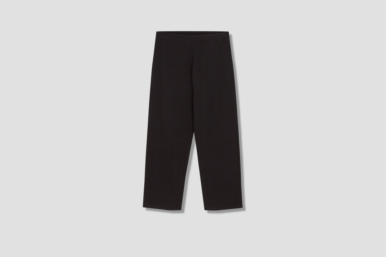 REDUCED TROUSERS - BLACK WAFFLE RIB M2216RTB Black