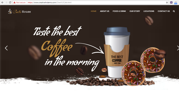 Business Profile website with hosting - Cafe & Restaurant