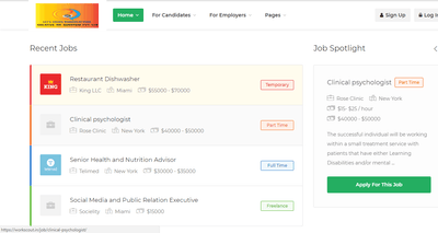 Job portal with employer and Jobseeker dashboard