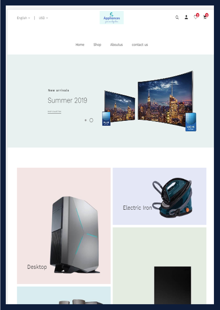 Electronics-Website Design