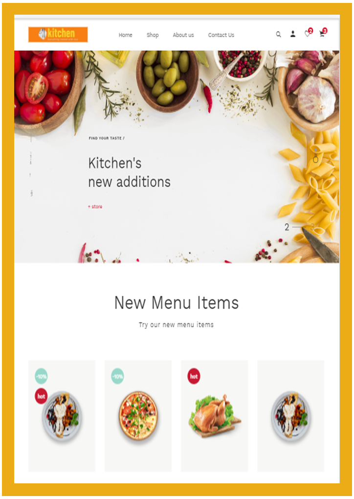 Food-Website Design-2