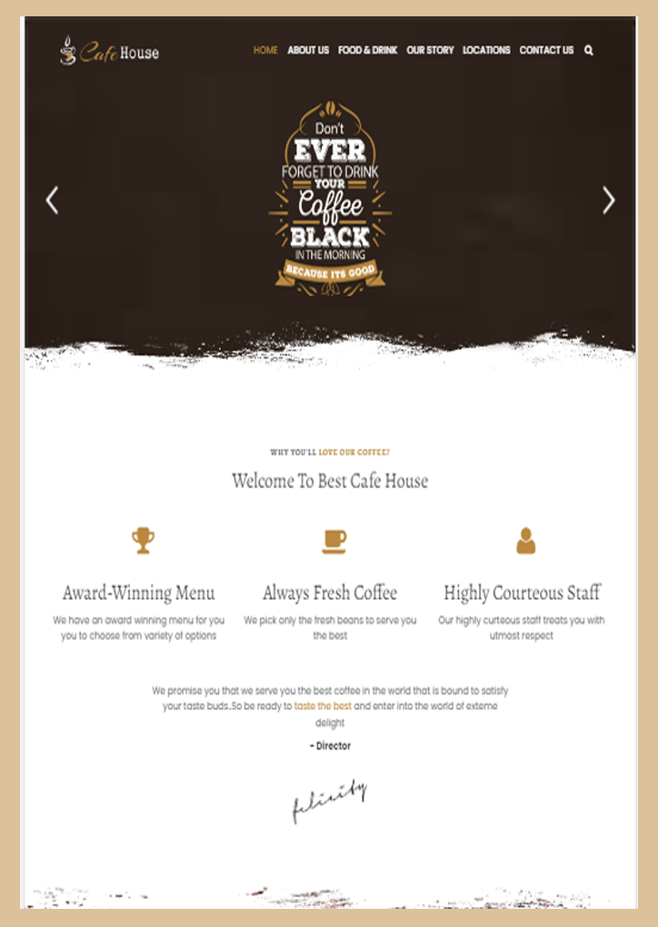 Food - Website Design-3