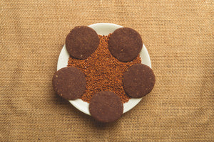 Ragi and Oats Chocolate cookies