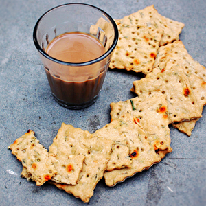 Whole Wheat Dill Spicy Crackers