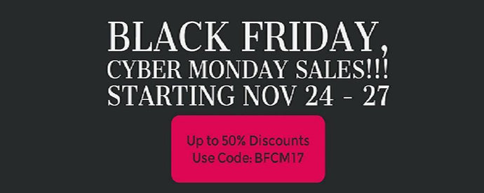 Black Friday and Cyber Monday 2017 in a Bang!