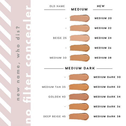 New Colorpop no filter concealer swatches