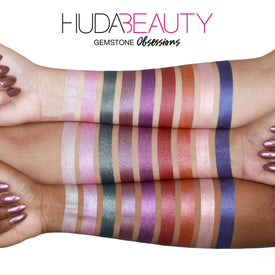 Huda Beauty Gemstone Obsessions swatches