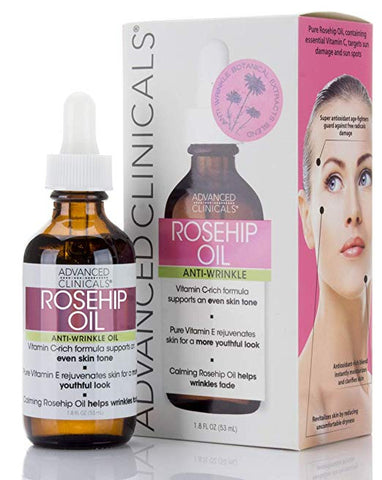 Advanced Clinicals  Rosehip Oil Anti-wrinkle face oil