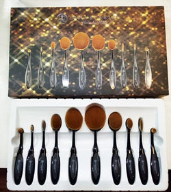 Anastasia Beverly Hills Make-Up Tool Oval Brush Set - 10pcs