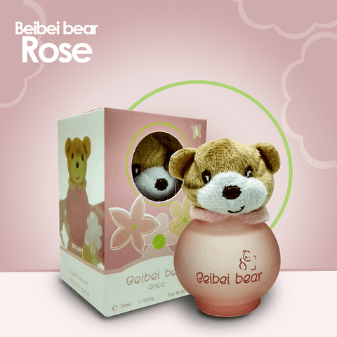 Beibei Bear Fragrance Rose Bear Perfume for Kids - 50ml