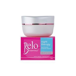 Belo Skin Care Essentials Night Therapy Whitening Vitamin Cream 50g