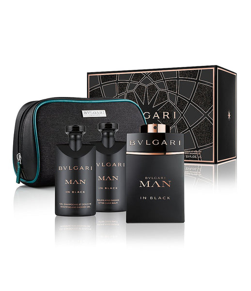 Bvlari Man in Black EDP 100ml 4pcs Gift Set