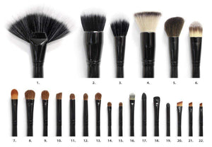 Coastal Scents Make-Up Tool 22 Piece Brush Set