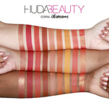 Huda Beauty Coral Obsessions Eyeshadow Swatches