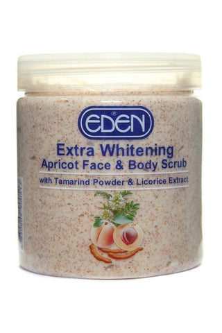 Eden Skin Care Extra Whitening Apricot Face & Body Scrub - 500g