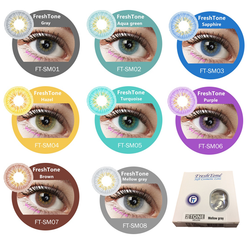 FreshTone makeup 3Tone Coloured Contact Lenses