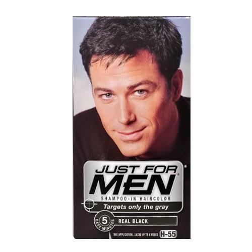 Just for Men Hair Care Shampoo-In Hair Colour, Real Black