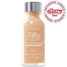 Load image into Gallery viewer, L'Oréal makeup N5.5 Perfect Beige True Match Super-Blendable Foundation