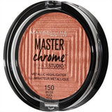 Maybelline makeup 150 Molten Peach Master Chrome Metallic Face Highlighter