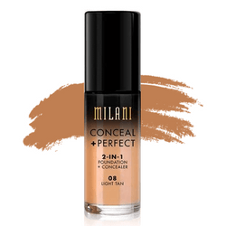 milani Make-Up 08 Light Tan Conceal Perfect 2 in 1 Foundation + Concealer