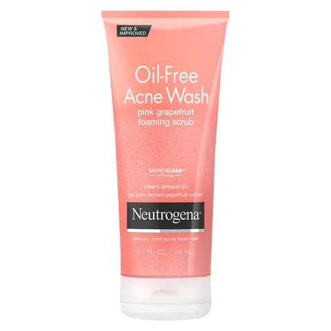 Oil-Free Acne Wash Pink Grapefruit Cream Facial Cleanser