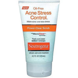 Neutrogena Skin Care Oil-Free Acne Stress Control Power Clear Scrub - 125ml