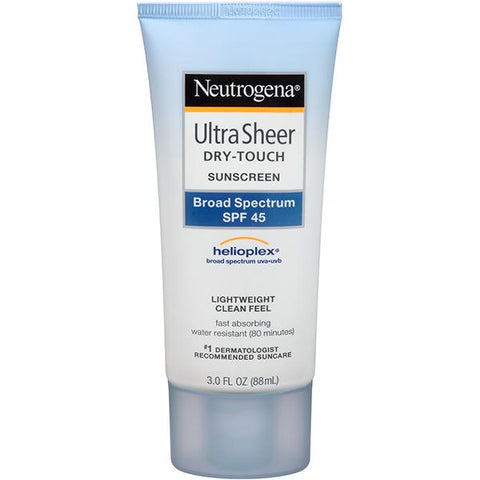 Neutrogena Ultra Sheer Dry-Touch Sunscreen lotion SPF45