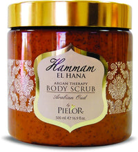 Load image into Gallery viewer, Pielor Skin Care Arabian Oud Hammam El Hana Argan Therapy Body Scrub - 500ml