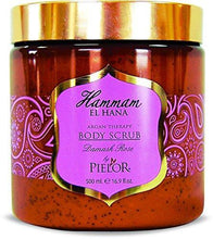 Load image into Gallery viewer, Pielor Skin Care Damask Rose Hammam El Hana Argan Therapy Body Scrub - 500ml