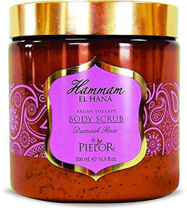 Pielor Skin Care Damask Rose Hammam El Hana Argan Therapy Body Scrub - 500ml