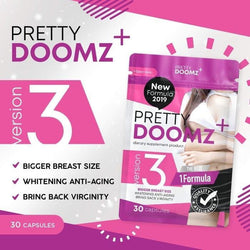Pretty Doomz Plus Breast Enhancing, Whitening Pills (30 Caps)