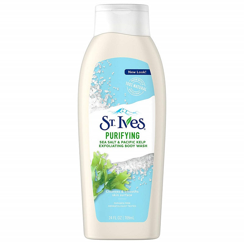St. Ives Purifying Sea Salt & Pacific Kelp Body Wash 709ml