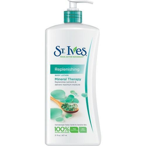 St. Ives Skin Care Replenishing Mineral Therapy Body Lotion - 621ml