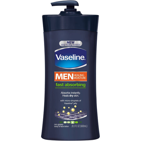 Vaseline Skin Care Men Healing Moisture Fast Absorbing Lotion - 600ml