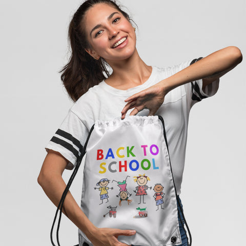 Back To School Kids - Drawstring Bag - KICKI´S SHOP
