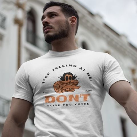 Stop Yelling At Me - Men´s T-Shirt - KICKI´S SHOP