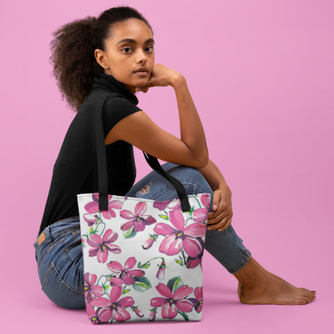 Lady Flowers All-Over - Tote Bag - KICKI´S SHOP