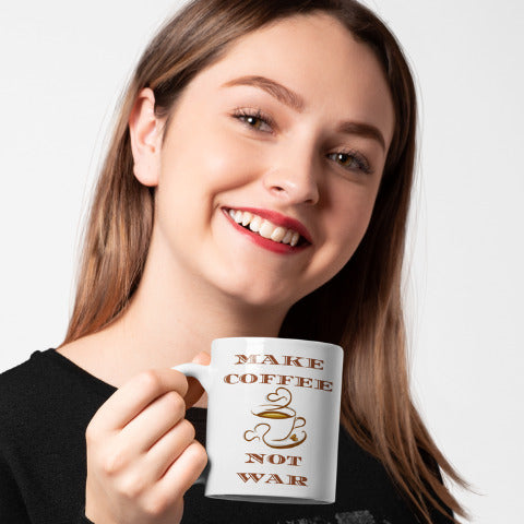 Make Coffee Not War - Coffee Mug - KICKI´S SHOP