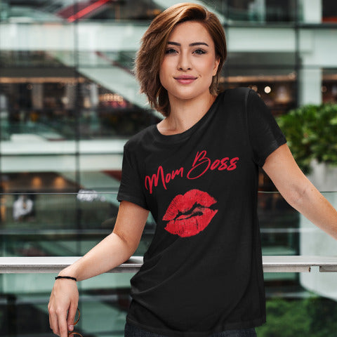 Mom Boss - Women´s T-Shirt - KICKI`S SHOP