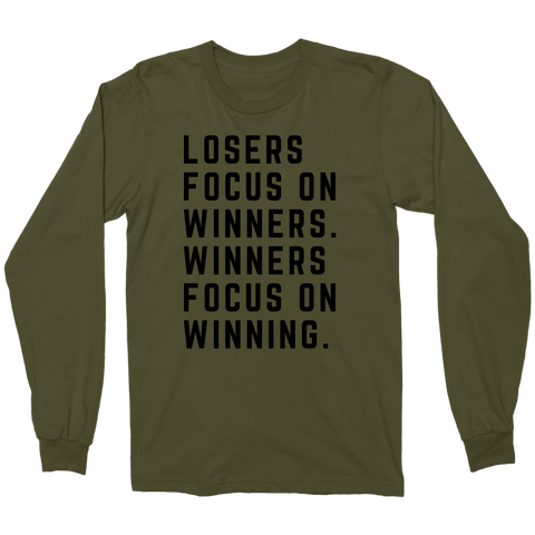 Winners Focus On Winning - Men´s Long Sleeve - KICKI´S SHOP