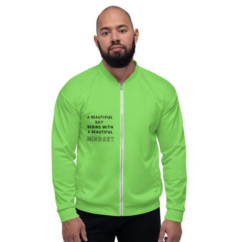 Lime Green - Men´s Bomber Jacket - KICKI´S SHOP