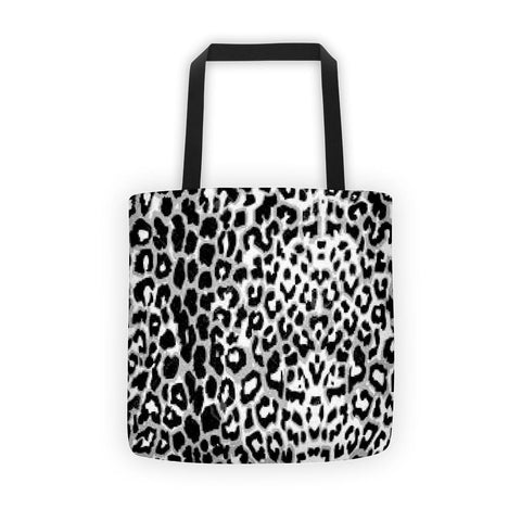 Black Leopard Pattern All Over - Tote Bag - KICKI´S SHOP