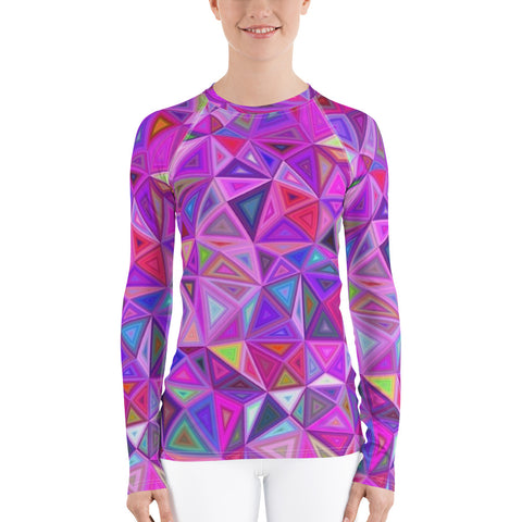 Pink Mosaic All Over - Women's Long Sleeve - KICKI´S SHOP