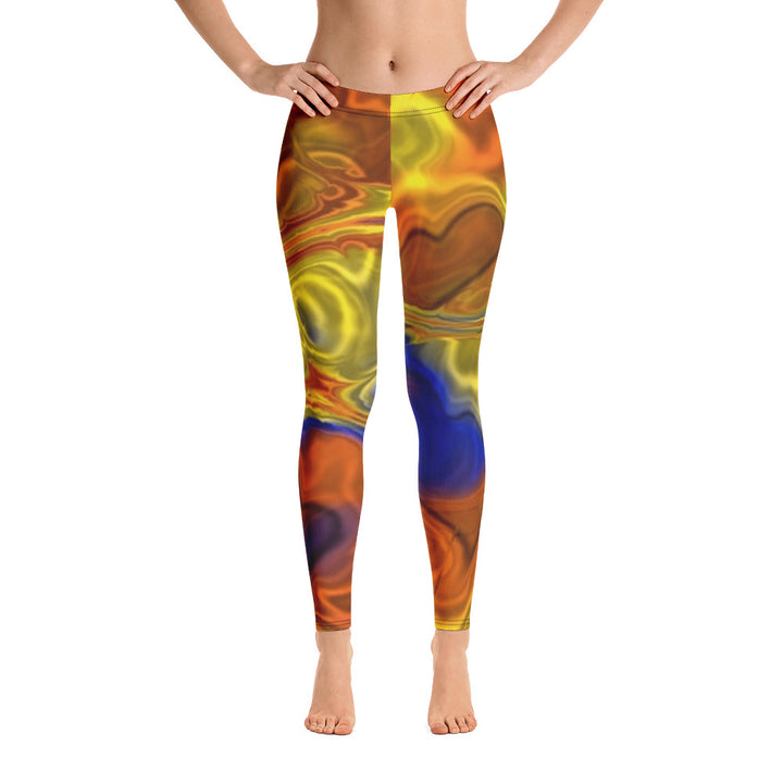 Blue And Yellow Mirror All Over - Women´s Leggings