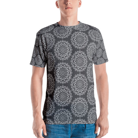 Black Mandala All-Over - Men's T-Shirt - KICKI´S SHOP