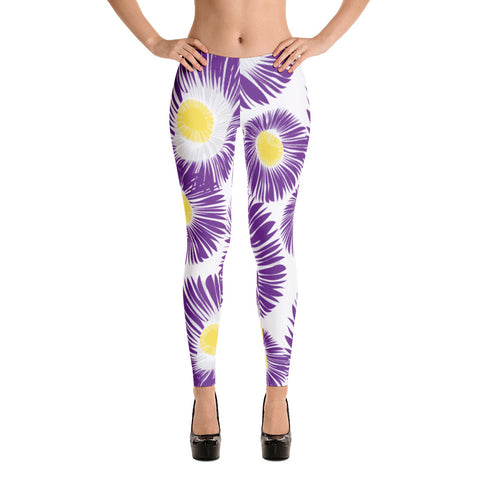 Purple Chrysanthemum All Over - Women´s Leggings - KICKI´S SHOP